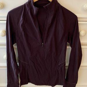 BARELY WORN. Maroon Lululemon Quarter-zip pullover